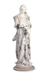 AN ITALIAN CARVED MARBLE FIGUR
