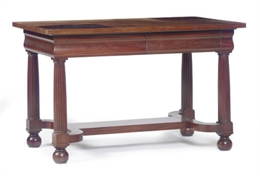 A MAHOGANY CENTER TABLE,