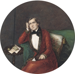 A seated gentleman with a book