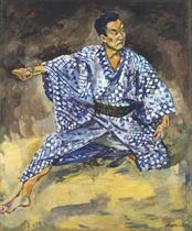 Portrait of Todzuro Kavarasaki, a Japanese actor