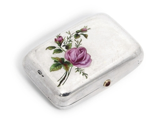 A silver enamelled purse