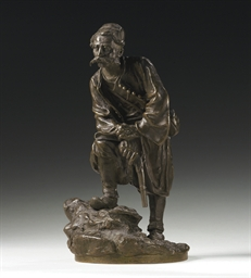 A bronze figure of a Montenegr