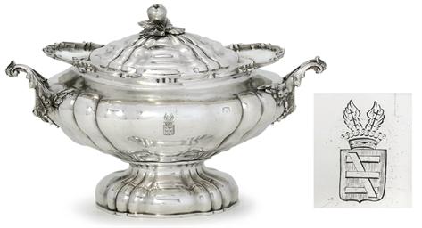 A silver soup-tureen