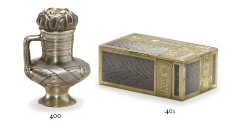 A parcel-gilt silver trompe l'