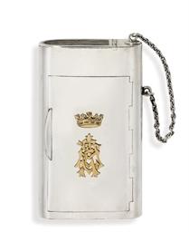 A silver cigarette-case