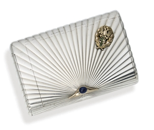 A jewelled silver cigarette-ca