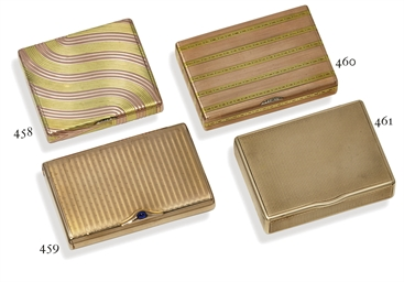 A gold cigarette-case