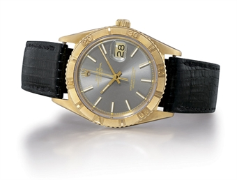 ROLEX, DATEJUST THUNDERBIRD REF. 1625  18K GOLD SELF-WINDING WRISTWATCH WITH SWEEP SECONDS AND DATE DISPLAY