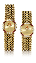 PIAGET  A PAIR OF 18K GOLD, DI