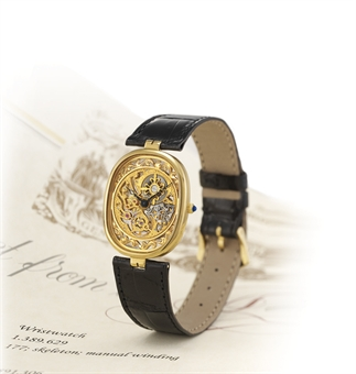 PATEK PHILIPPE, ELLIPSE SQUELETTE REF. 3880  18K GOLD MANUAL-WINDING ELLIPTICAL SKELETONISED WRISTWATCH