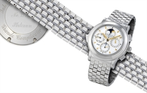 """IWC, """"GRANDE COMPLICATION""""  950 PLATINUM SELF-WINDING PERPETUAL CALENDAR CHRONOGRAPH MINUTE REPEATING BRACELET WRISTWATCH WITH MOON-PHASE DISPLAY, LIMITED PRODUCTION OF 50 PIECES PER YEAR"""