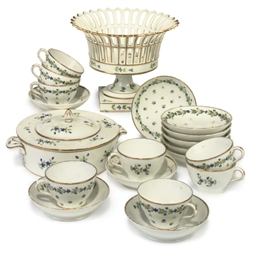 A GROUP OF FRENCH PORCELAIN DI