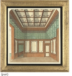 Design for a panelled room; De