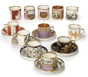 TWELVE CONTINENTAL PORCELAIN C