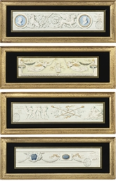 Three designs for friezes in t