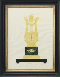 Design for a lyre clock crowne