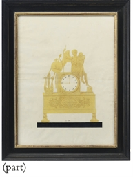 Design for a clock depicting L