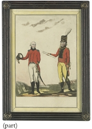 A pair of studies of soldiers;