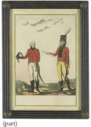 A pair of studies of soldiers;