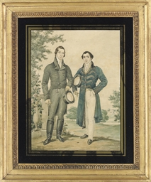 Portrait of two gentleman, sta