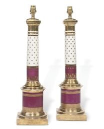 A PAIR OF PARIS PORCELAIN COLU