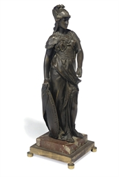 A CONTINENTAL BRONZE FIGURE OF