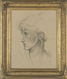 Study of a woman's head, in pr