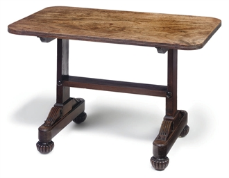A REGENCY MAHOGANY LOW TABLE