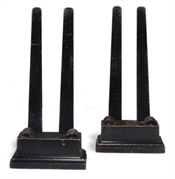 A PAIR OF VICTORIAN EBONISED M