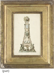 Design for a monument with gri