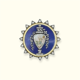 A GEORGE III DIAMOND AND ENAME