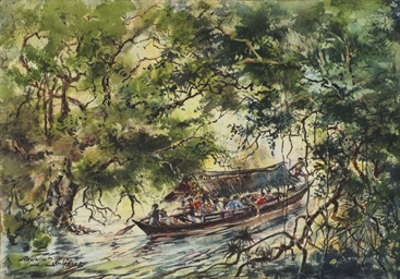 Through jungle waterways, Mala
