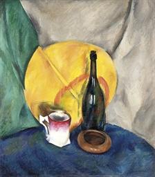 Stilleben mit Flasche