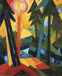 Wald (mit Sonne)