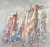 Stadtvision (cubo-futurist composition)