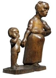 Arbeiterfrau mit Kind