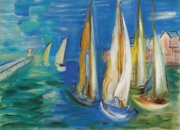 Départ des voiliers à Deauvill