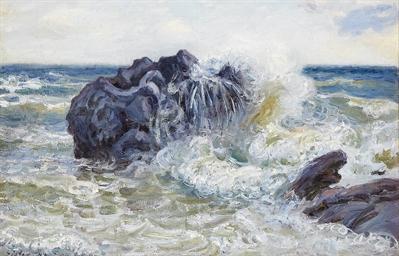 La vague, Baie de Langland (Pa