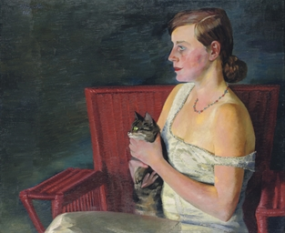 Bildnis Londa (Profil) mit Kat