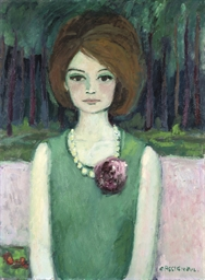Femme au collier, Portrait de