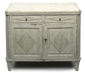 A GUSTAVIAN PAINTED SIDE CABIN