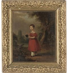 Portrait of a girl, full-lengt