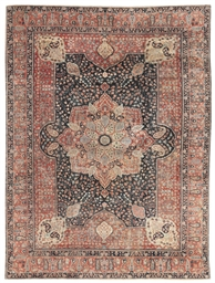 An antique Khoy Tabriz carpet