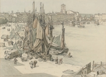 Bustling activity on the quayside, La Rochelle