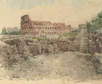 Castel Sant Angelo from the Tiber, Rome; and The Forum, Rome (illustrated)