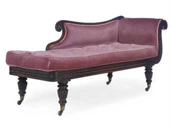 A WILLIAM IV ROSEWOOD CHAISE L