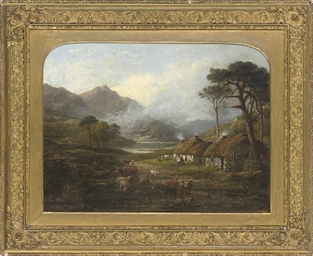 Cottages beside a loch