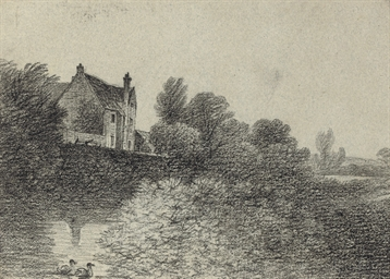 A manor house on the banks of