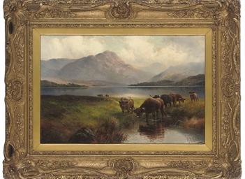 Highland cattle, Loch Venachar