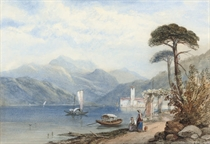 Austrian lake scenes (one illustrated)